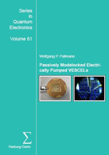 Passively Modelocked Electrically Pumped VECSELs - Coverbild