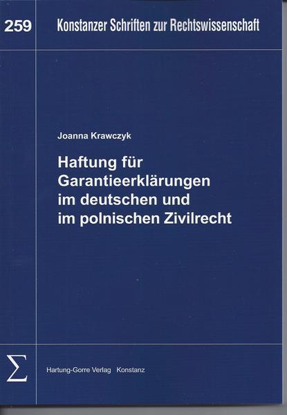 Haftung für Garantieerklärungen im deutschen und im polnischen Zivilrecht - Coverbild