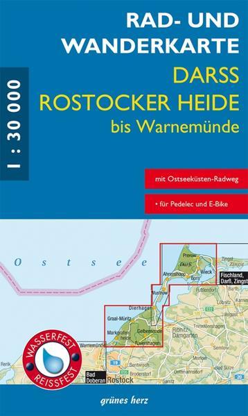Rad- und Wanderkarte Rostocker Heide, Darß - Coverbild
