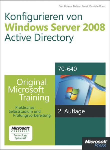 Konfigurieren von Windows Server 2008 Active Directory - Original Microsoft Training für Examen 70-640, 2. Auflage, überarbeitet für R2 - Coverbild