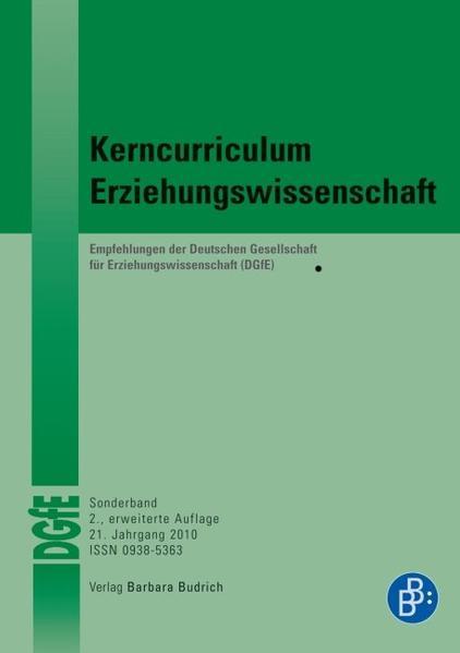 Kerncurriculum Erziehungswissenschaft - Coverbild