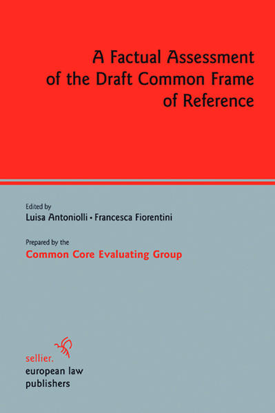 A Factual Assessment of the Draft Common Frame of Reference - Coverbild