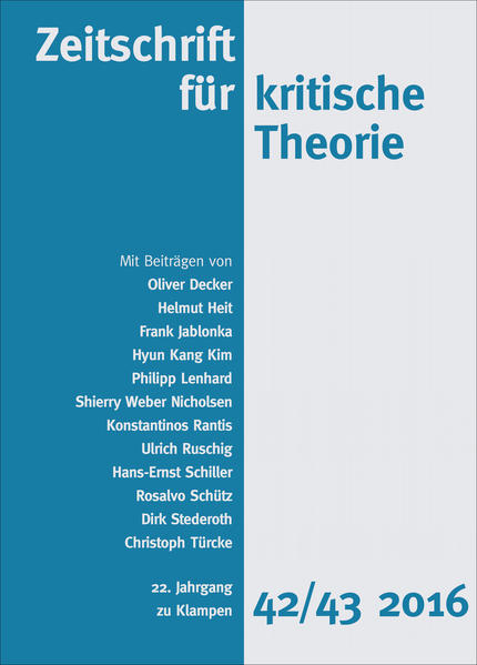 Zeitschrift für kritische Theorie - Coverbild