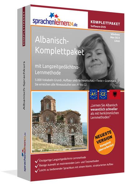 Sprachenlernen24.de Albanisch-Komplettpaket (Sprachkurs) - Coverbild