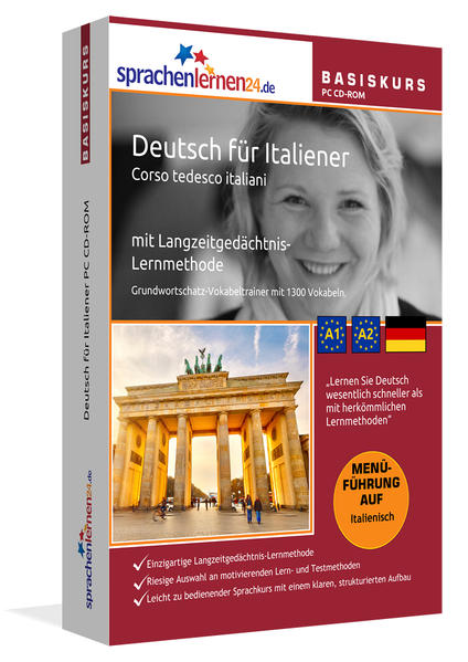 Sprachenlernen24.de Deutsch für Italiener Basis PC CD-ROM - Coverbild