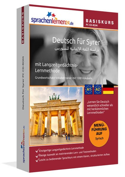 Sprachenlernen24.de Deutsch für Syrer Basis PC CD-ROM - Coverbild