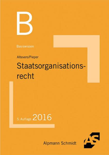 Basiswissen Staatsorganisationsrecht - Coverbild