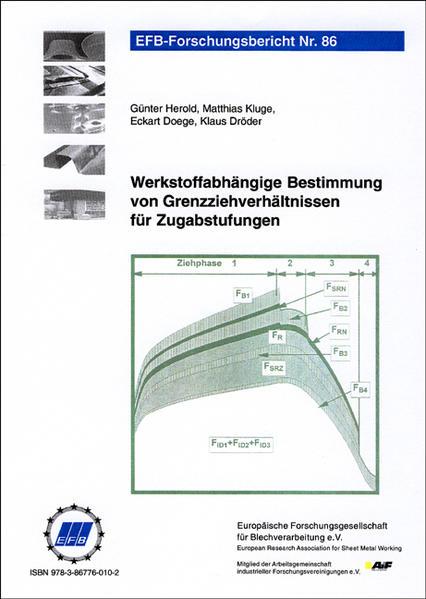 Werkstoffabhängige Bestimmung von Grenzziehverhältnissen für Zugabstufungen - Coverbild