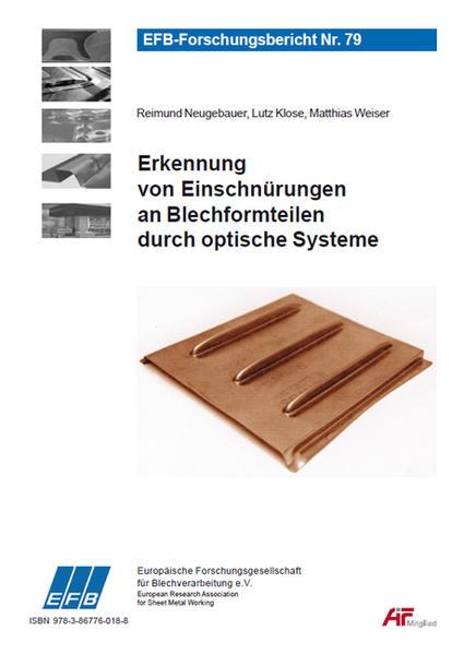Erkennung von Einschnürungen an Blechformteilen durch optische Systeme - Coverbild