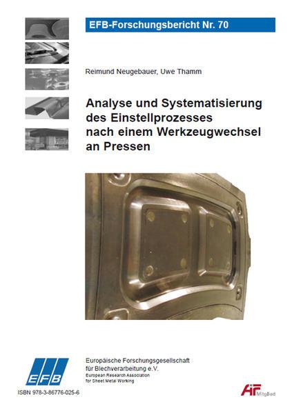 Analyse und Systematisierung des Einstellprozesses nach einem Werkzeugwechsel an Pressen - Coverbild