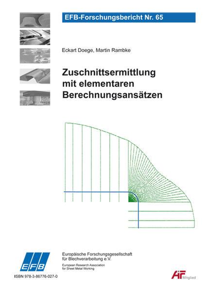 Zuschnittsermittlung mit elementaren Berechnungsansätzen - Coverbild