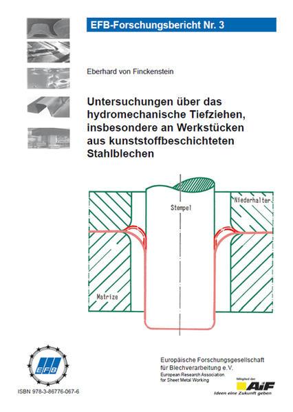 Untersuchungen über das hydromechanische Tiefziehen, insbesondere an Werkstücken aus kunststoffbeschichteten Stahlblechen - Coverbild
