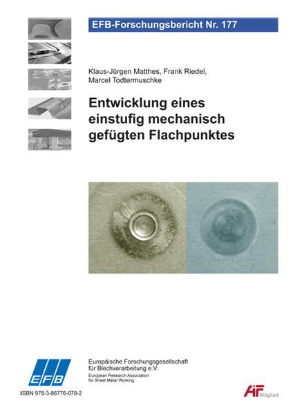 Entwicklung eines einstufig mechanisch gefügten Flachpunktes - Coverbild