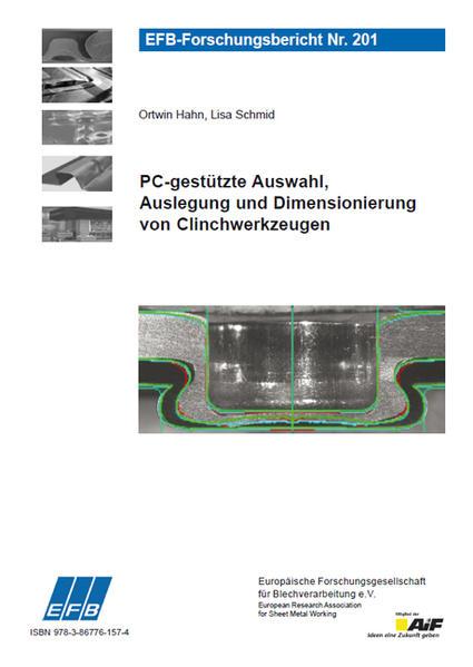 PC-gestützte Auswahl, Auslegung und Dimensionierung von Clinchwerkzeugen - Coverbild