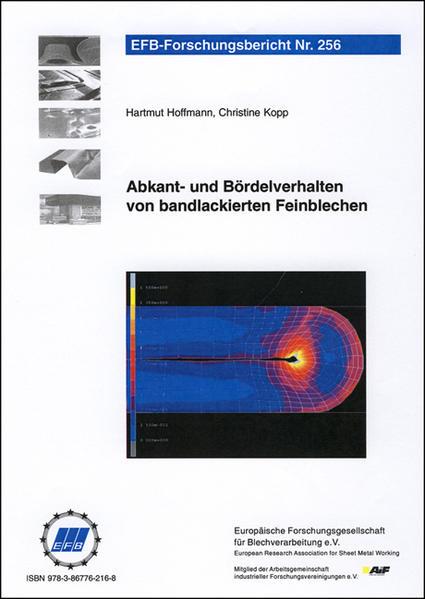 Abkant- und Bördelverhalten von bandlackierten Feinblechen - Coverbild