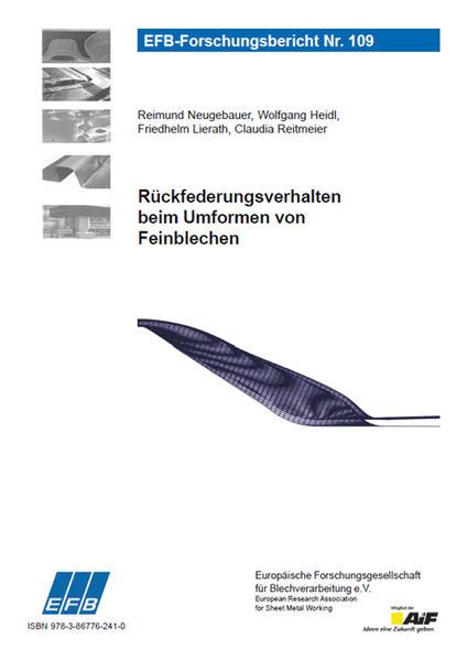 Rückfederungsverhalten beim Umformen von Feinblechen - Coverbild