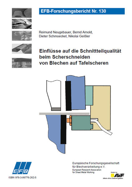 Einflüsse auf die Schnittteilqualität beim Scherschneiden von Blechen auf Tafelscheren - Coverbild