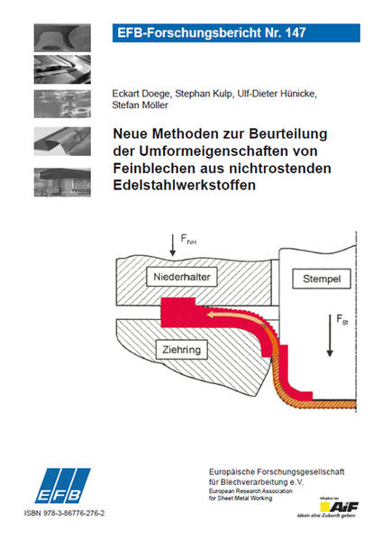 Neue Methoden zur Beurteilung der Umformeigenschaften von Feinblechen aus nichtrostenden Edelstahlwerkstoffen - Coverbild