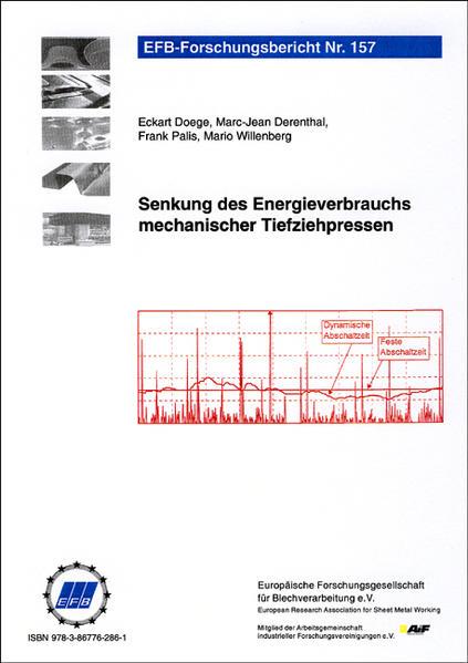 Senkung des Energieverbrauchs mechanischer Tiefziehpressen - Coverbild