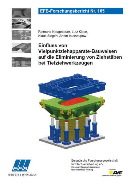 Einfluss von Vielpunktziehapparate-Bauweisen auf die Eliminierung von Ziehstäben bei Tiefziehwerkzeugen - Coverbild