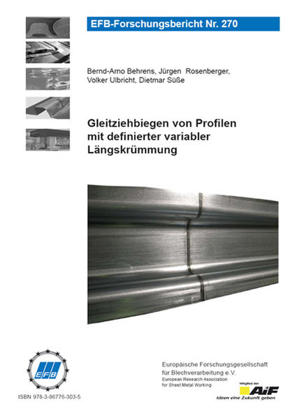 Gleitziehbiegen von Profilen mit definierter variabler Längskrümmung - Coverbild