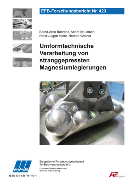 Umformtechnische Verarbeitung von stranggepressten Magnesiumlegierungen - Coverbild