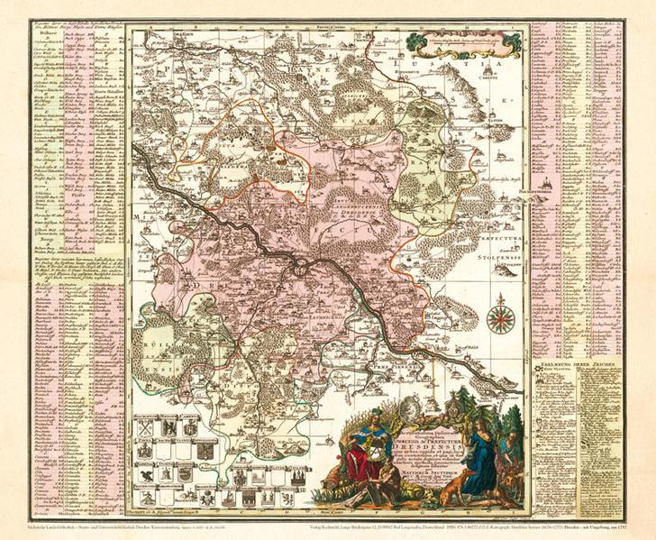 PDF Download Historische Karte: Dresden mit Umgebung, um 1757