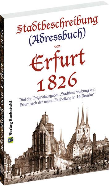 Stadtbeschreibung (Adressbuch) der Stadt Erfurt 1826 - Coverbild