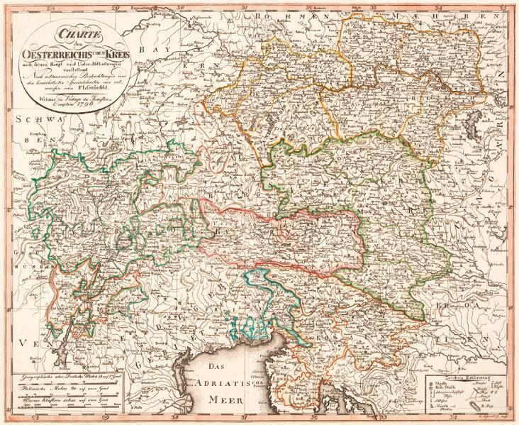 Historische Karte: Der Österreichische Kreis - auch Österreichische Reichskreis, 1796 - Coverbild