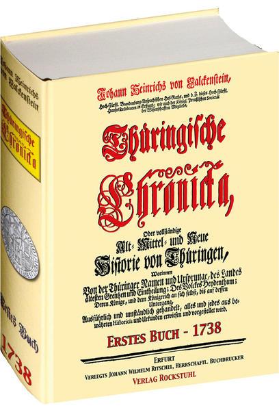 Thüringische Chronicka 1738 - Erstes Buch (1 von 3)  [Thüringen Chronik] - Coverbild