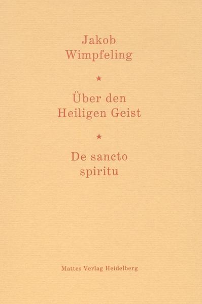 Über den Heiligen Geist. De sancto spiritu - Coverbild