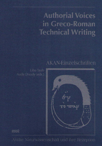 Authorical Voices in Greco-Roman Technical Writing - Coverbild