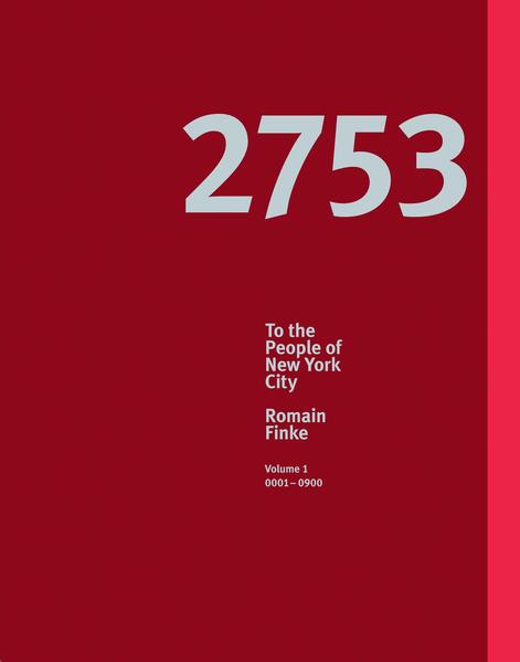 Romain Finke – 2753 To the People of New York City - Coverbild