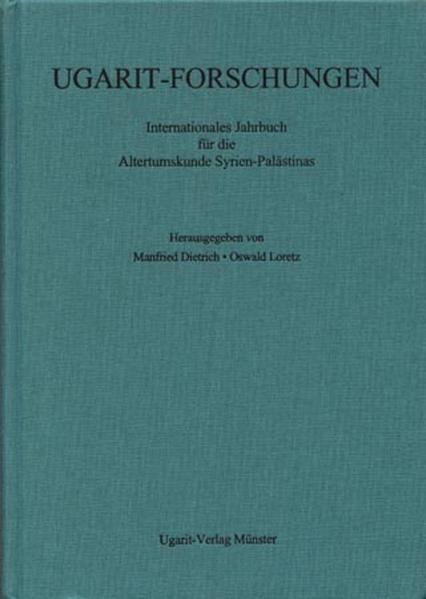 Ugarit-Forschungen. Jahrbuch / Ugarit-Forschungen. Band 40 (2008) - Coverbild