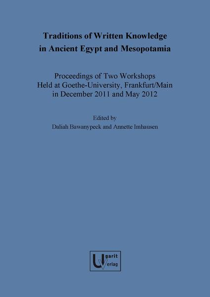 Traditions of Written Knowledge in Ancient Egypt and Mesopotamia - Coverbild
