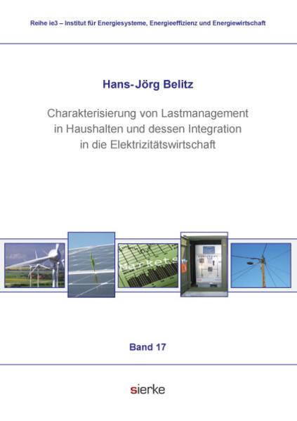 Charakterisierung von Lastmanagement in Haushalten und dessen Integration  in die Elektrizitätswirtschaft  - Coverbild