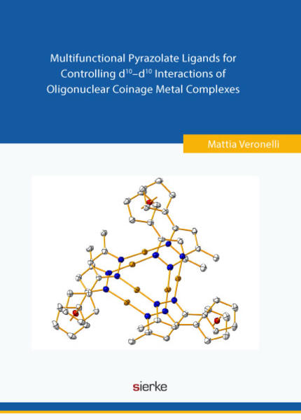 Multifunctional Pyrazolate Ligands for Controlling d10–d10 Interactions  of Oligonuclear Coinage Metal Complexes - Coverbild