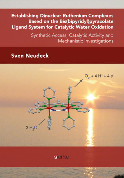 Establishing Dinuclear Ruthenium Complexes Based on the Bis(bipyridyl)pyrazolate  Ligand System for Catalytic Water Oxidation: - Coverbild