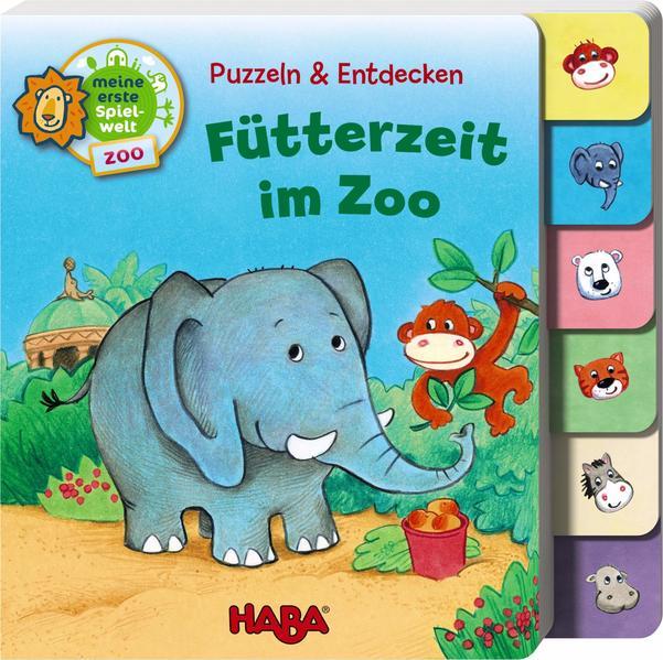 Puzzeln und Entdecken - Fütterzeit im Zoo - Coverbild