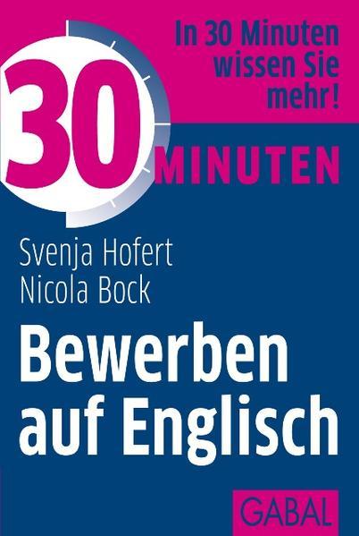 30 Minuten Bewerben auf Englisch - Coverbild