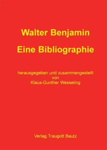 Walter Benjamin - Coverbild
