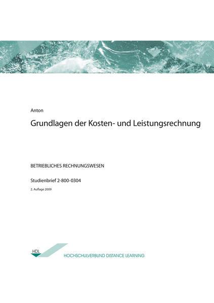 Grundlagen der Kosten- und Leistungsrechnung - Coverbild
