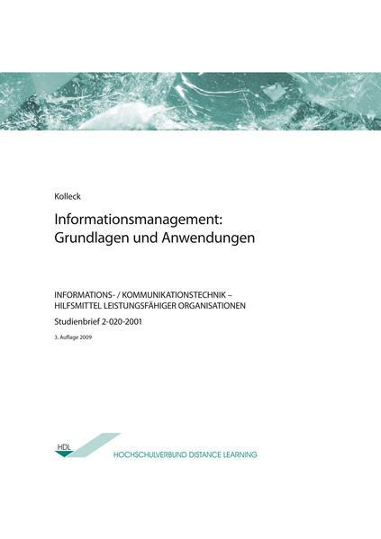 Informationsmanagement: Grundlagen und Anwendungen - Coverbild