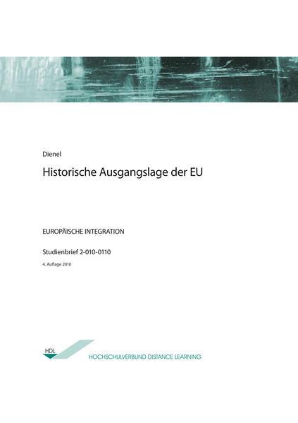Historische Ausgangslage der EU - Coverbild