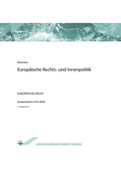 Europäische Rechts- und Innenpolitik - Coverbild