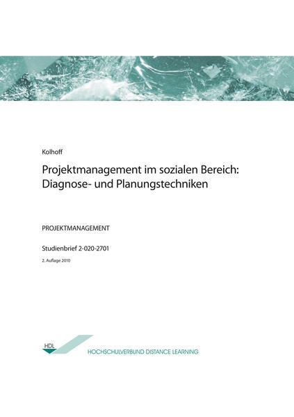 Projektmanagement im sozialen Bereich: Diagnose- und Planungstechniken - Coverbild