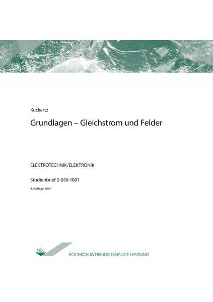 Grundlagen-Gleichstrom und Felder - Coverbild