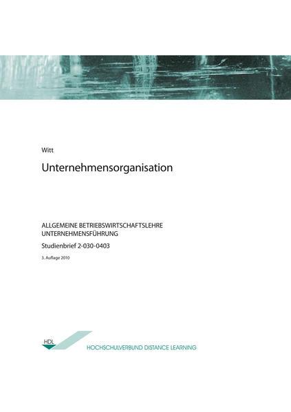 Unternehmensorganisation - Coverbild