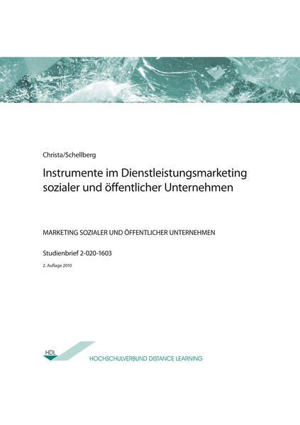 Instrumente im Dienstleistungsmarketing sozialer und öffentlicher Unternehmen - Coverbild
