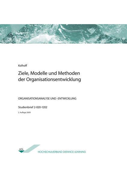 Ziele, Modelle und Methoden der Organisationsentwicklung - Coverbild